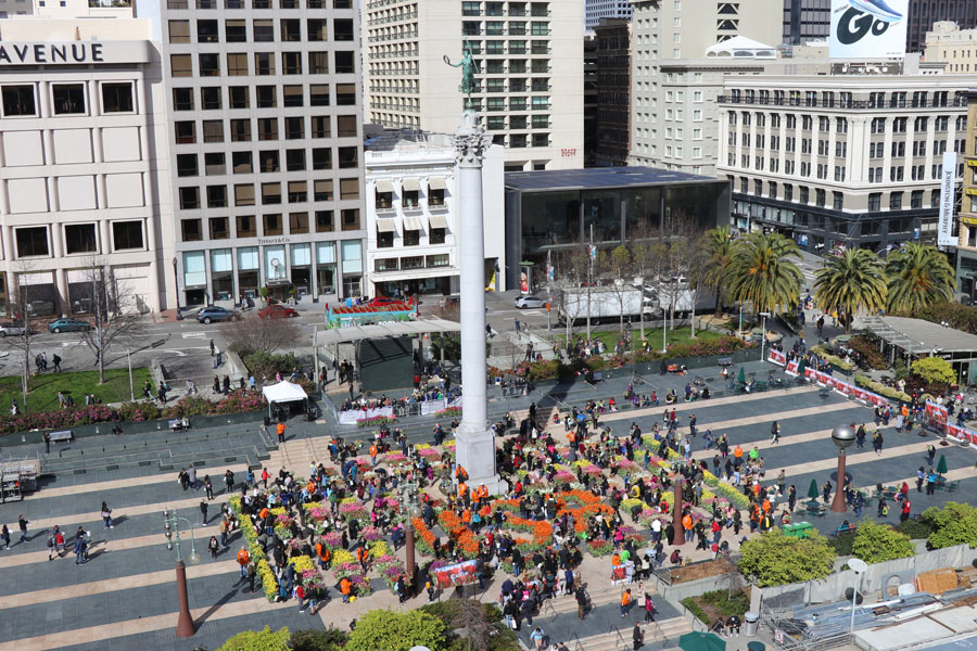 Free tulips at the second annual 2019 American Tulip Day in San Francisco is happening March 2, 2019 at Union Square.