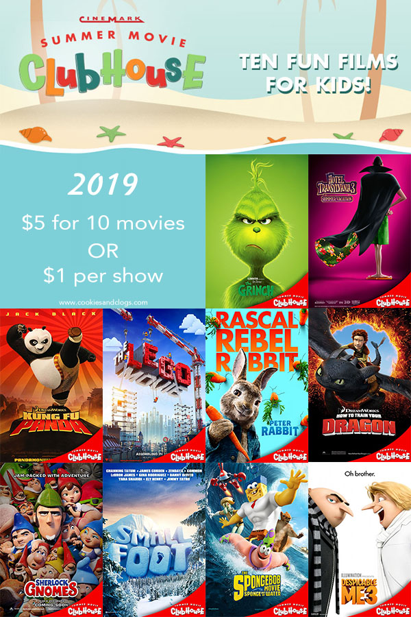 2019 Summer Movie Deals — Cinemark Summer Movie Clubhouse