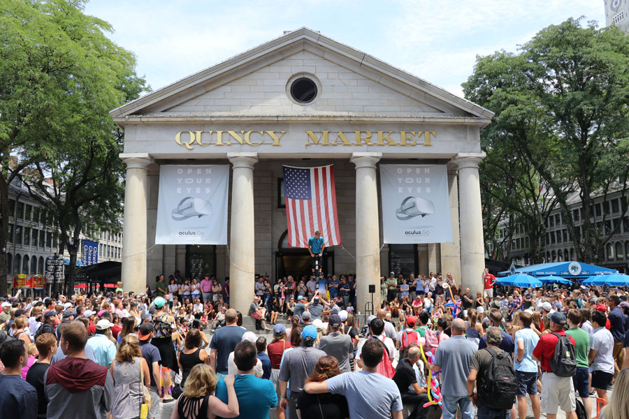 Family travel tips for visiting the Boston Freedom Trail in Boston, Massachusetts with historic sites - Quincy Market