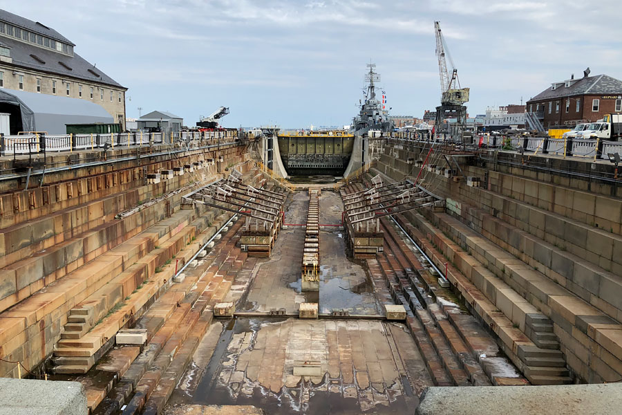 Family travel tips for visiting the Boston Freedom Trail in Boston, Massachusetts with historic sites - USS Constitution Dry Dock