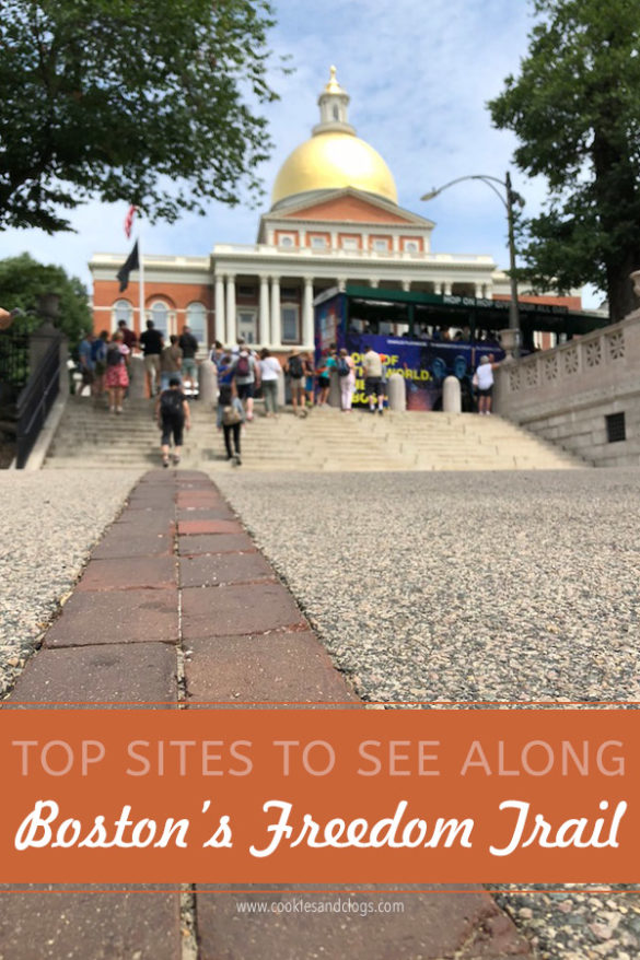 Family travel tips for visiting the Boston Freedom Trail in Boston, Massachusetts with historic sites