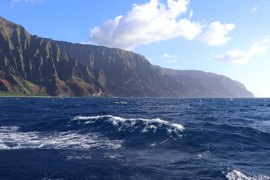 Top things to do in Kauai Hawaii — Kauai Napali Coast boat tour / Na Pali Coast sunset cruise