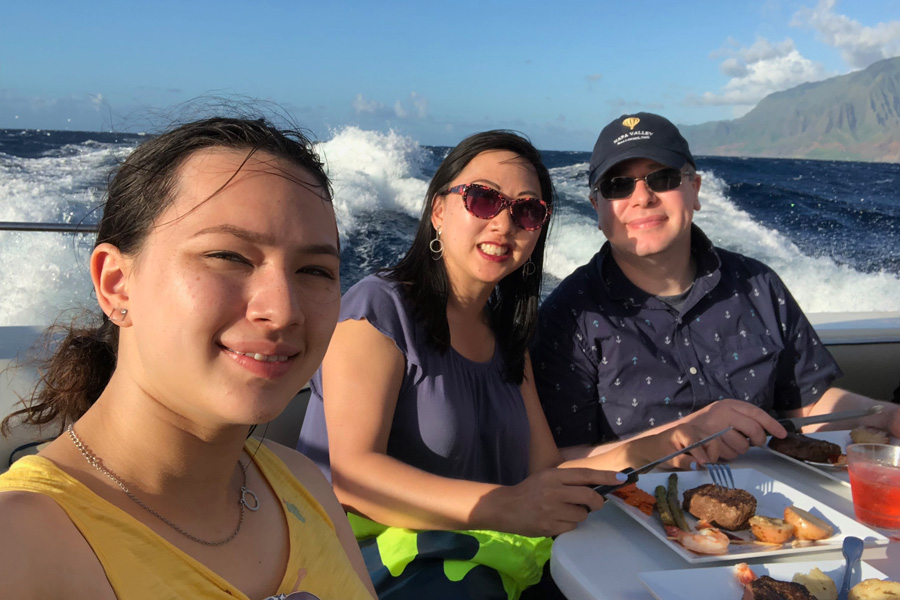 Top things to do in Kauai Hawaii — Kauai Napali Coast boat tour / Na Pali Coast sunset cruise family