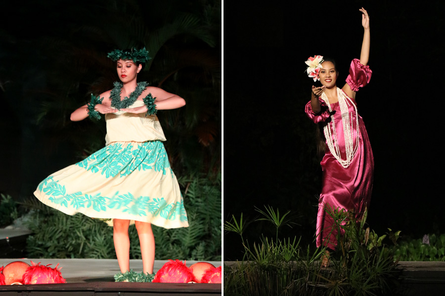 Smith Family Garden Luau / Hawaiian Luau in Kauai Hawaii Rhythm of Aloha hula show ancient and modern hula