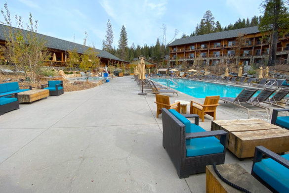 Rush Creek Lodge in Groveland, CA near Yosemite National Park Salt Water Pool