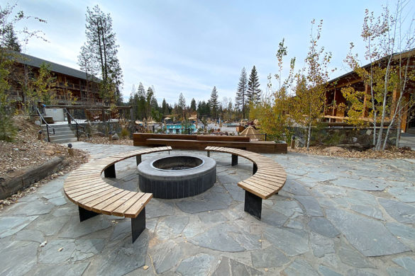 Rush Creek Lodge in Groveland, CA near Yosemite National Park S'mores Fire Pit