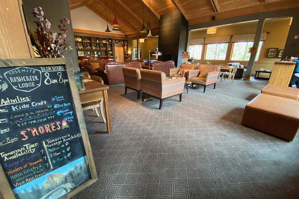 Rush Creek Lodge in Groveland, CA near Yosemite National Park Guest Lounge and Activities