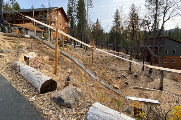 Rush Creek Lodge in Groveland, CA near Yosemite National Park 60-ft Slide