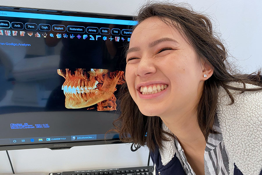 Braces Alternative Clear Aligners with Uniform Teeth San Francisco 3d x-ray