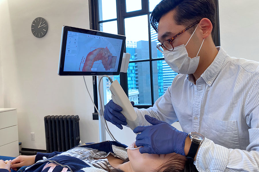 Braces Alternative Clear Aligners with Uniform Teeth San Francisco scan