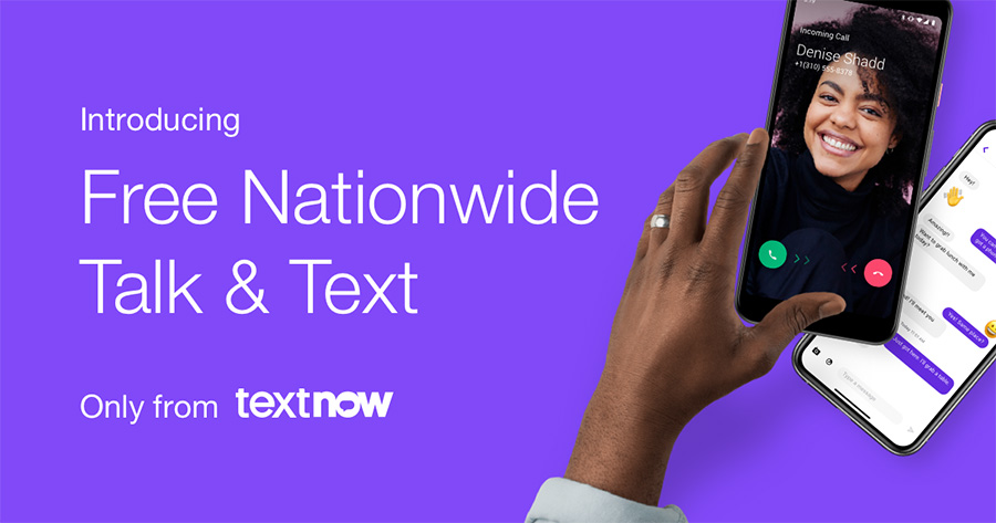 TextNow Free Nationwide Talk and Text Free Cellular Phone Plan