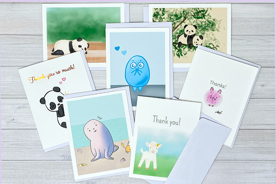 Anelynn.com online store for cute greeting cards, stickers, magnets, prints family-run small business