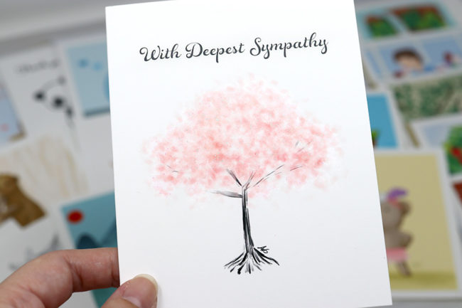 Anelynn.com online store for cute greeting cards, stickers, magnets, prints cherry tree sympathy