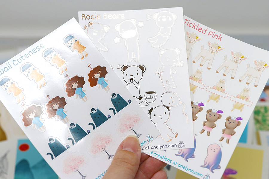 Anelynn.com online store for cute greeting cards, stickers, magnets, prints, planner stickers